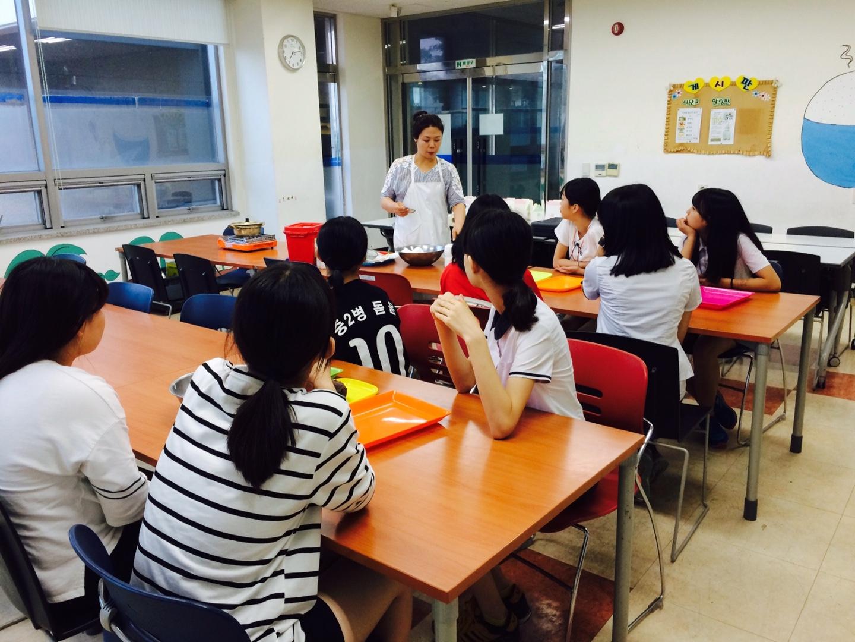 요리수업 진행 (2015.06.19)